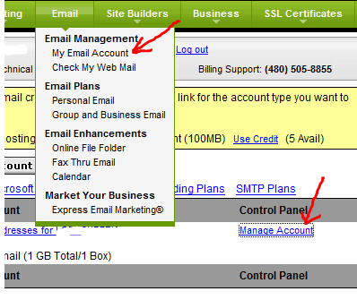godaddy-manage-email