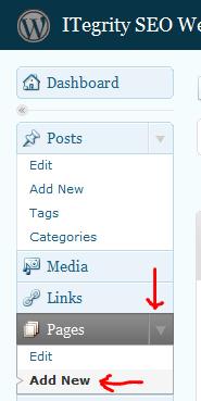 wordpress-add-page