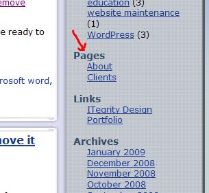 wordpress-sidebar-navigation