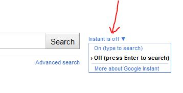 disable-google-instant-search