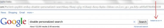disable personalized search &pws=0