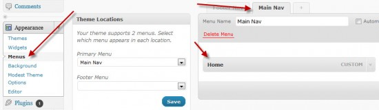 WordPress Nav Menu Editor