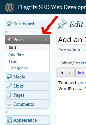 Wordpress Add a Post
