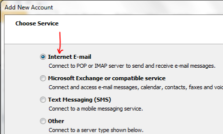 dreamhost email choose service